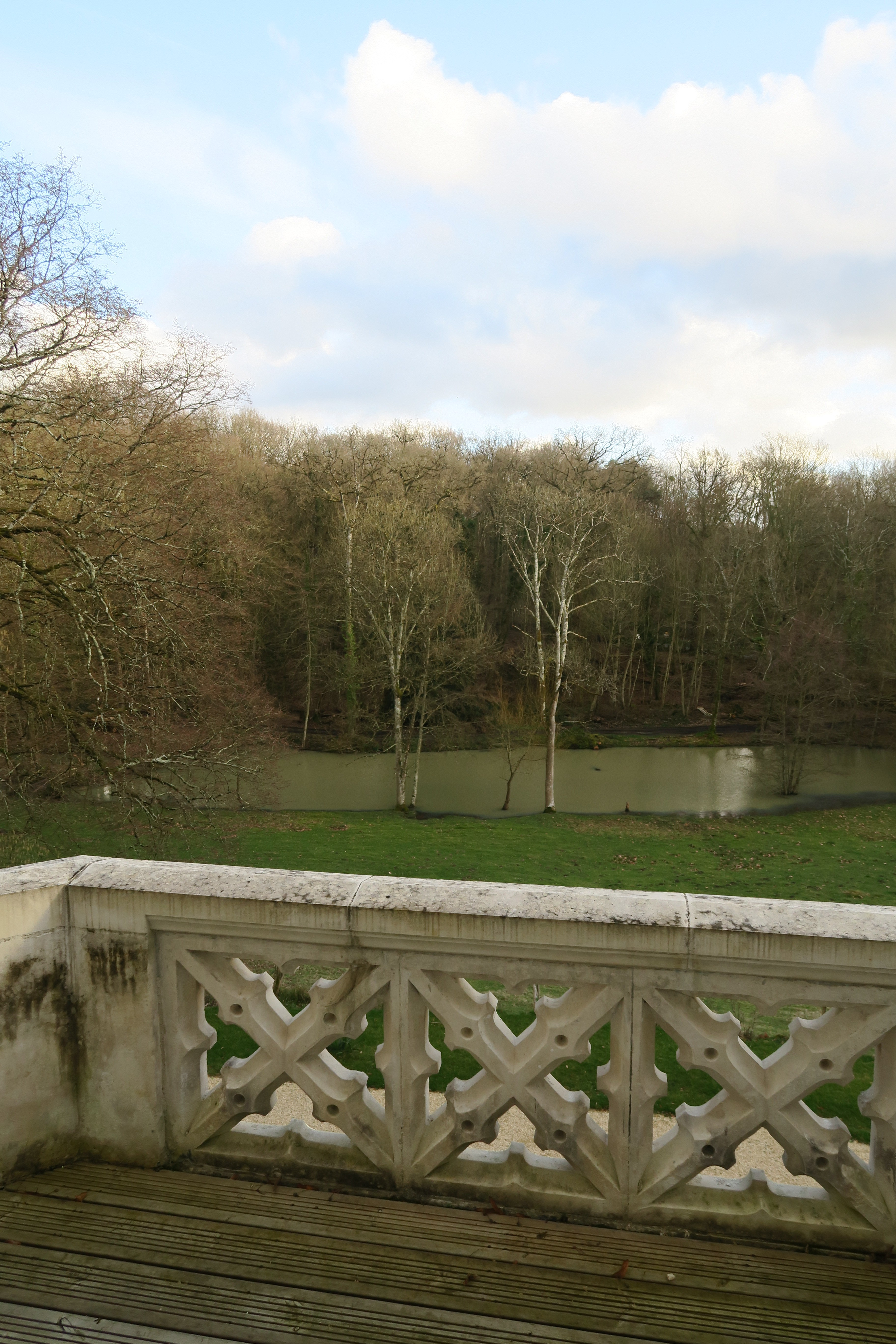 Magnifique vue sur le parc depuis la chambre d'hôtes Chenonceau