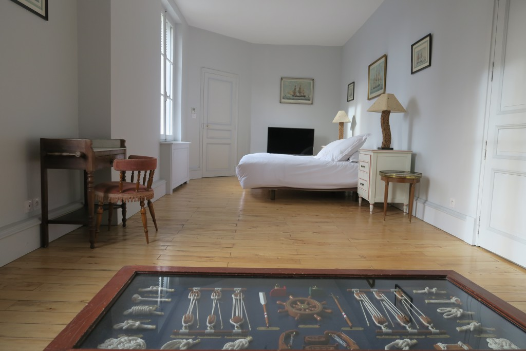 Une des chambres d'hôte de château de Gué Chapelle, la chambre Richelieu